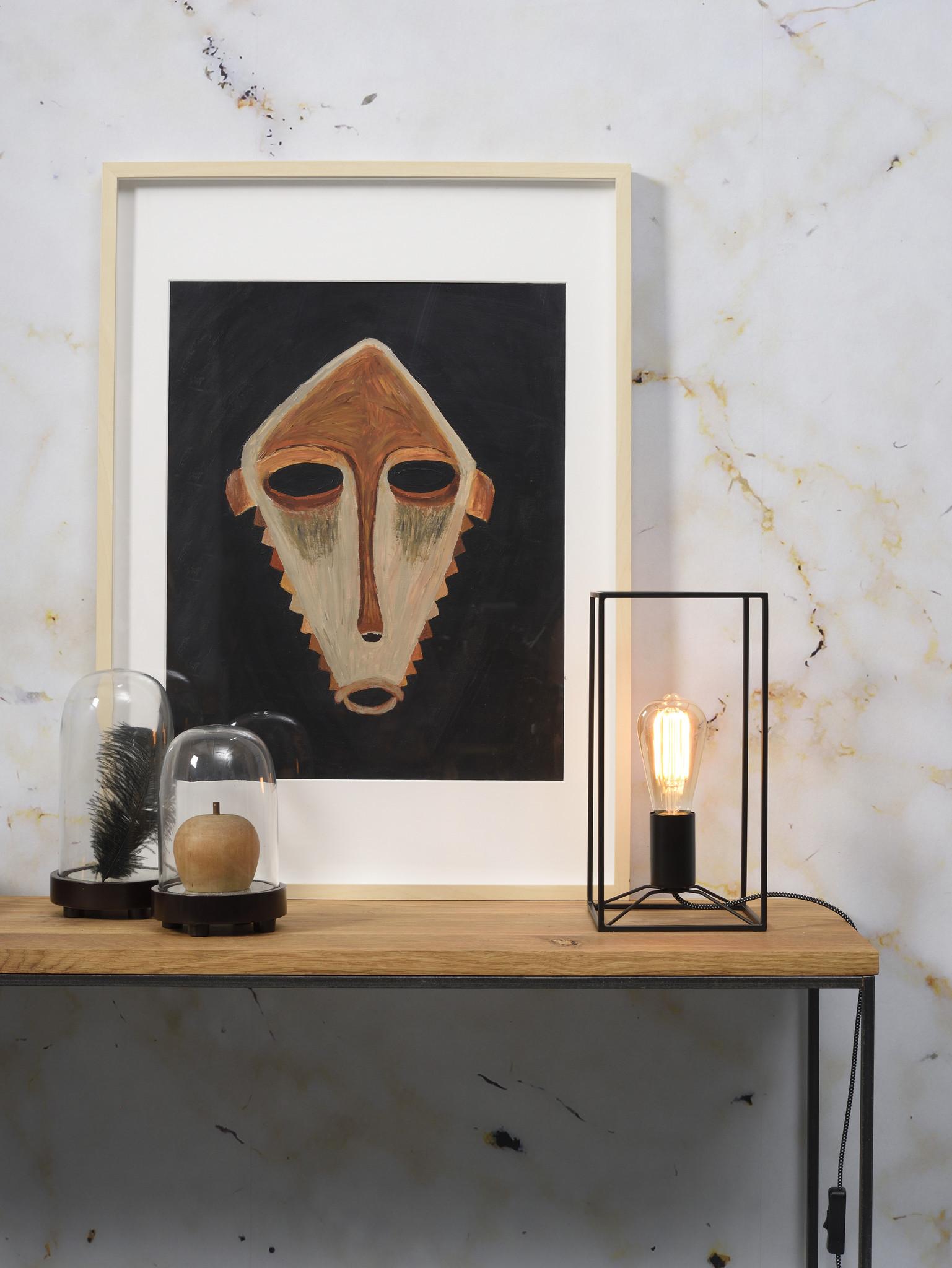 Tafellamp Antwerp rechthoek zwart-2