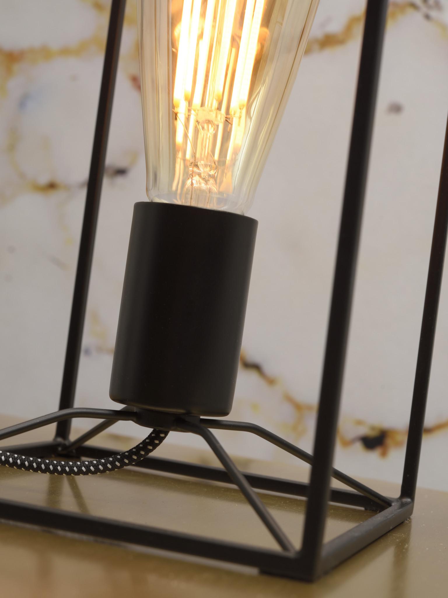 Tafellamp Antwerp rechthoek zwart-3