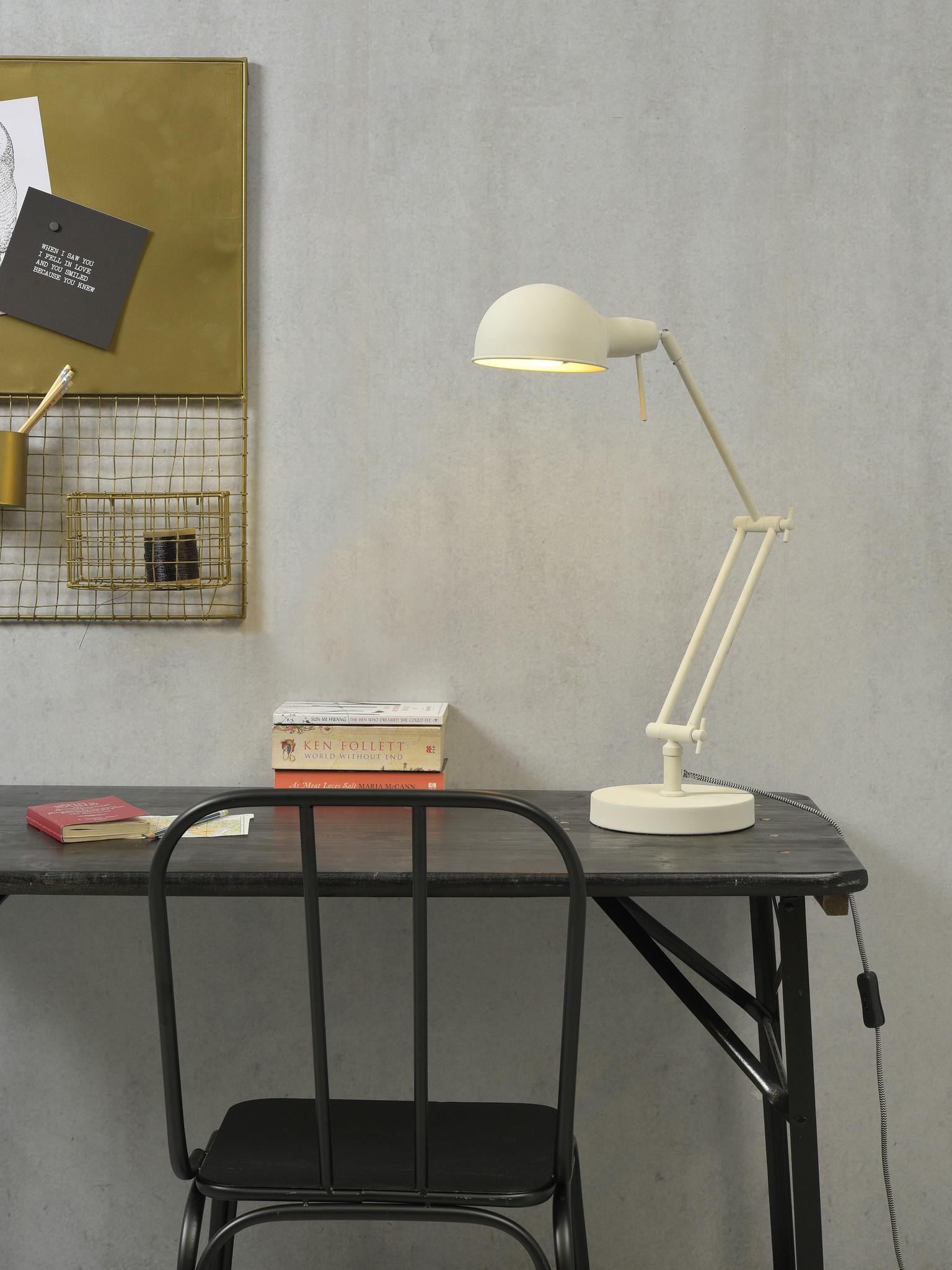 Tafellamp Glasgow ijzer wit-2