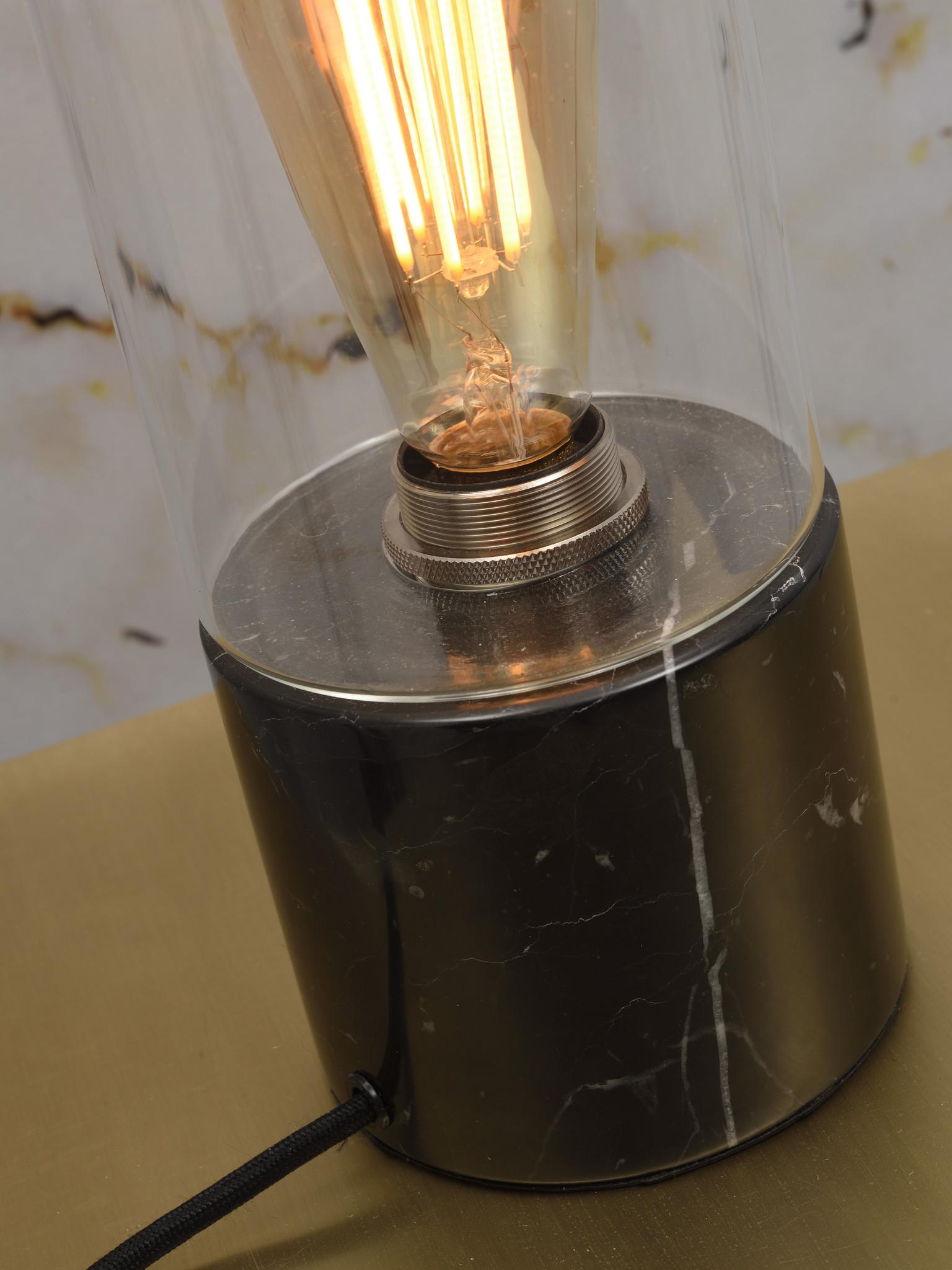 Tafellamp Athens glas marmer zwart-4