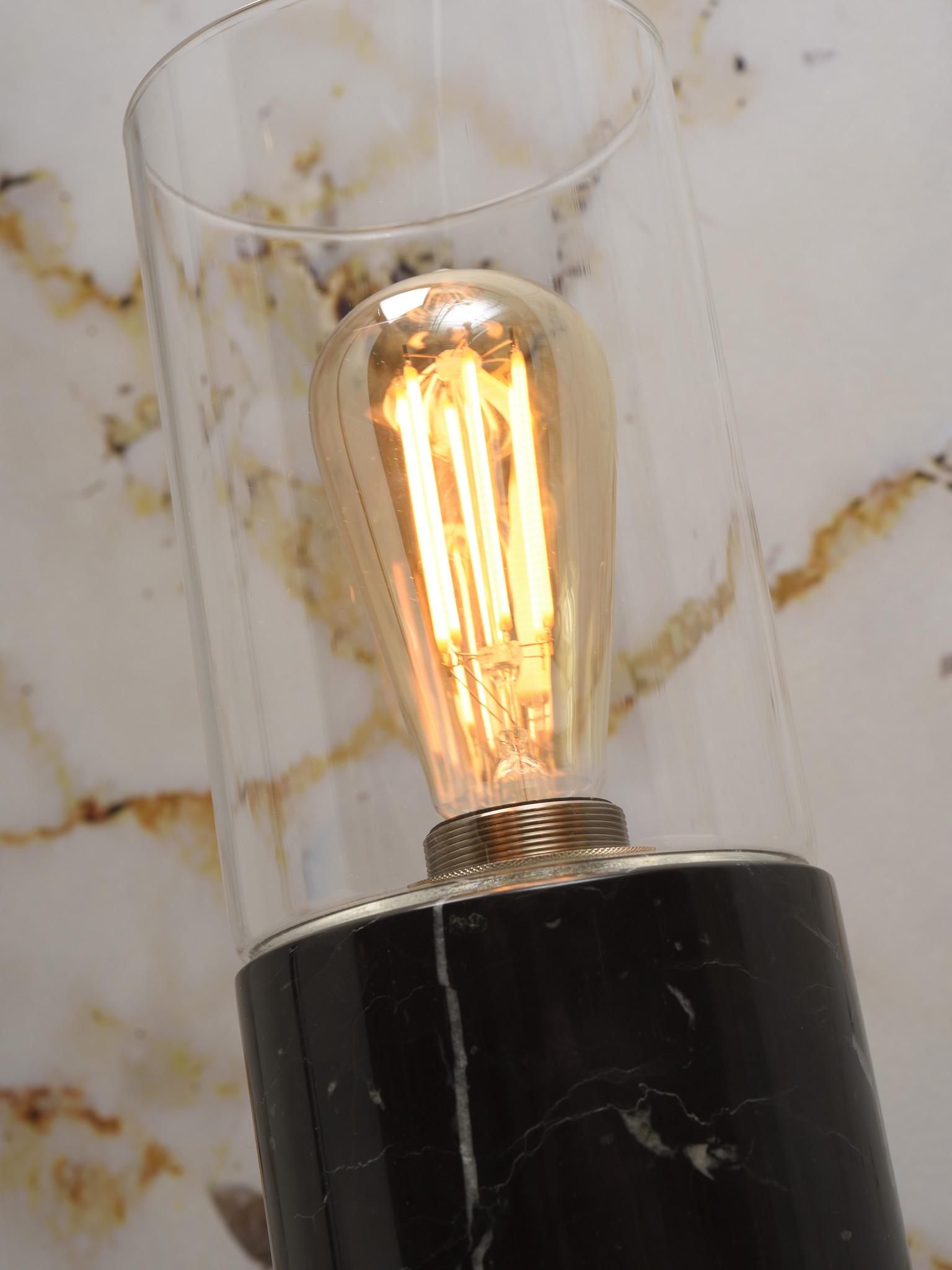 Tafellamp Athens glas marmer zwart-3