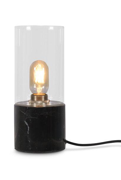 Tafellamp Athens glas marmer zwart