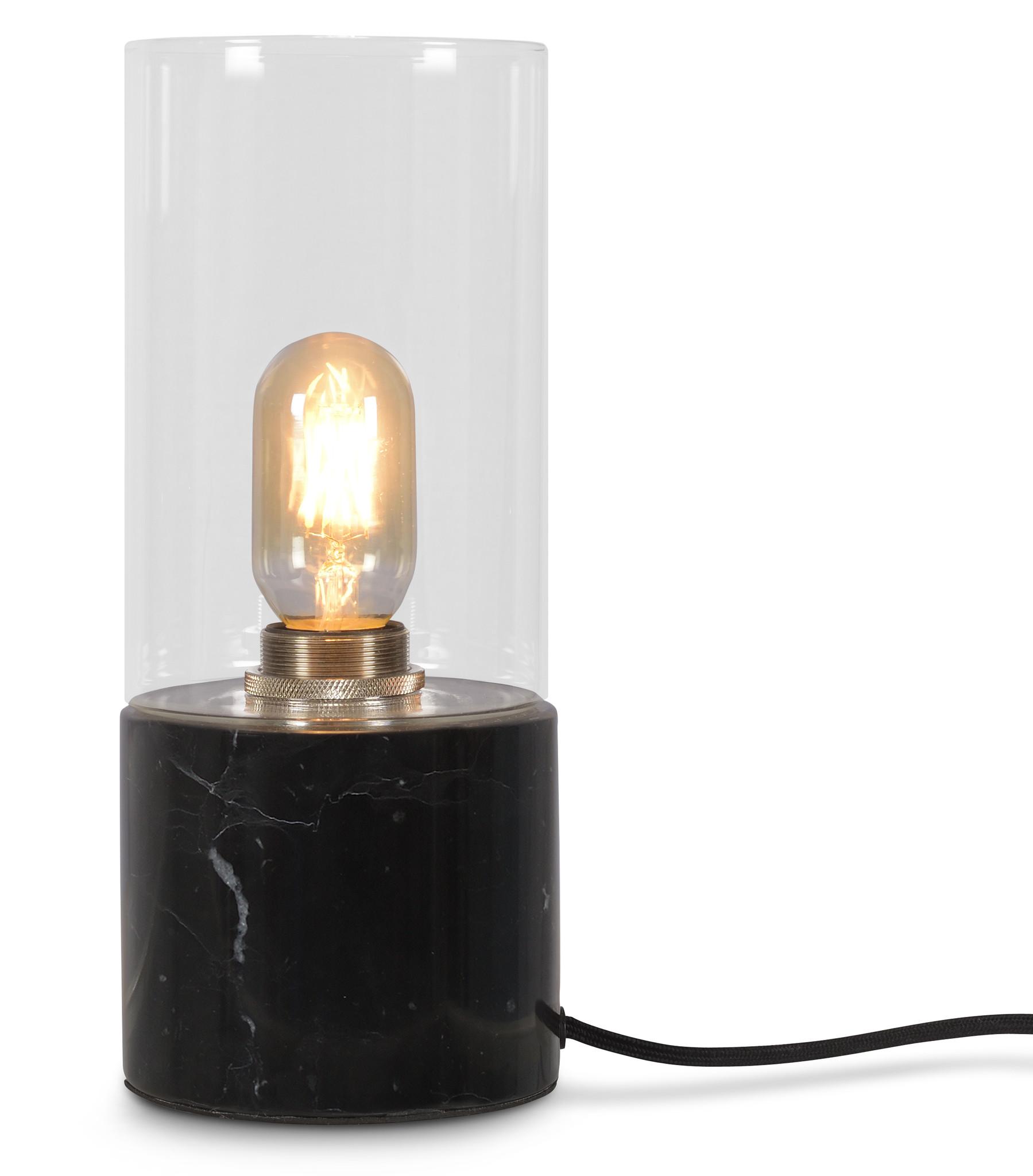 Tafellamp Athens glas marmer zwart-1