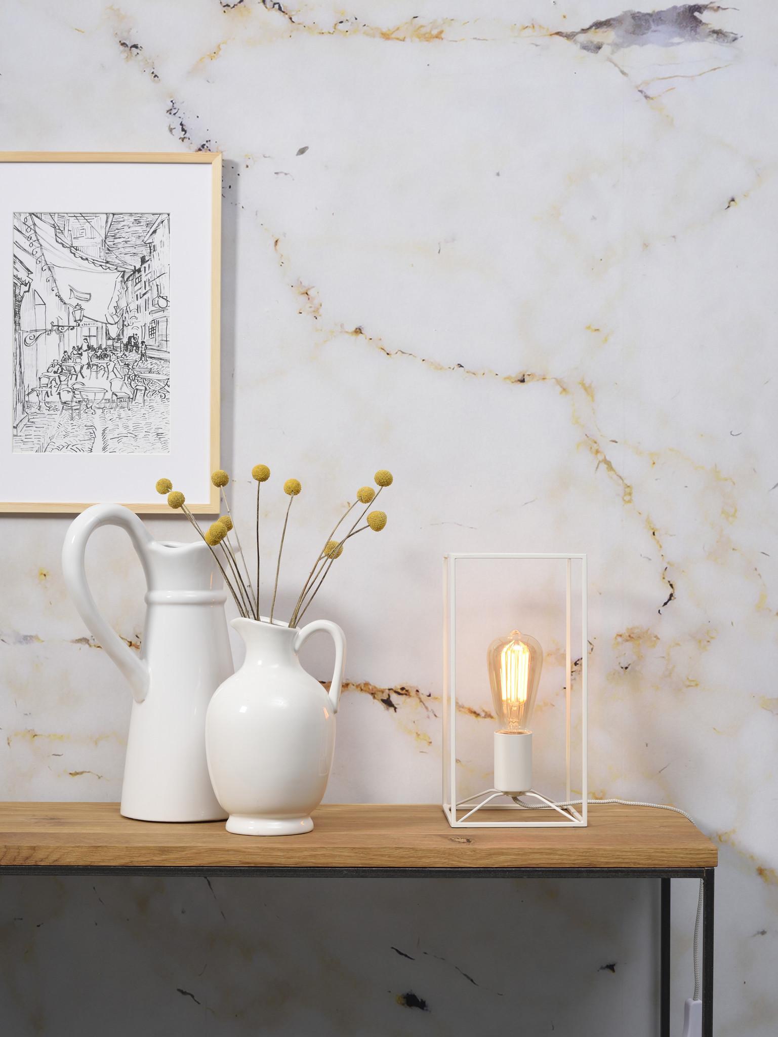 Tafellamp Antwerp rechthoek wit-2