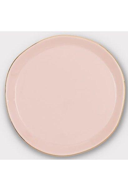 Bord Good morning Ø17x1cm old Pink