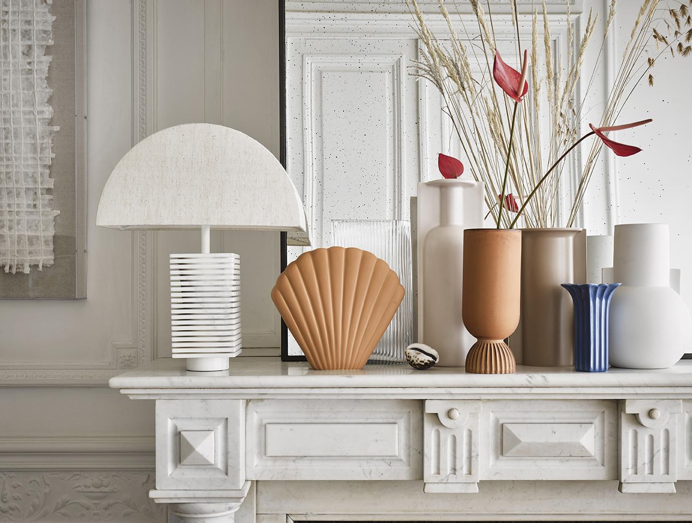 Vaas ceramic shell 25x21cm Terracotta-2