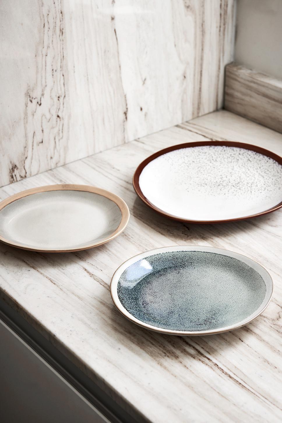 Bord side plate ceramic 70's earth-3