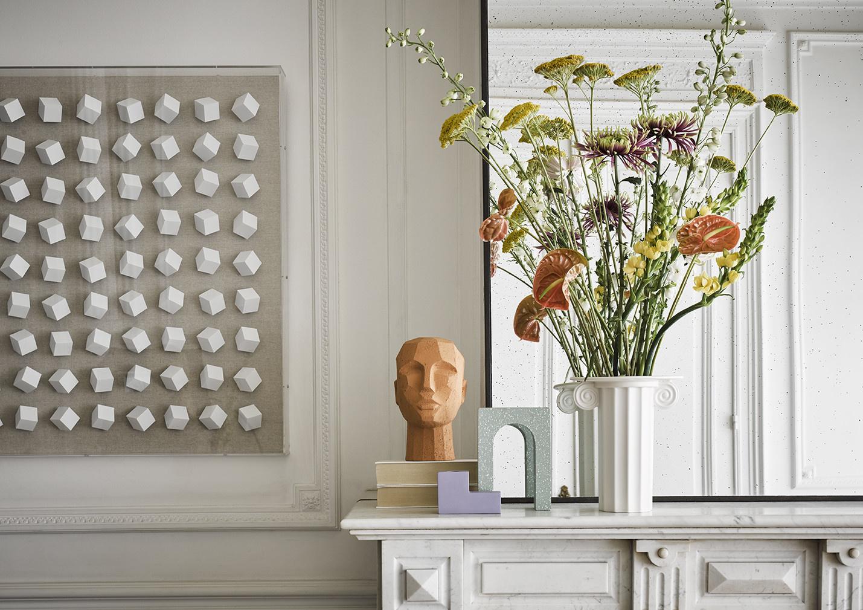 Object abstract head 18x15x25cm Terracotta-3