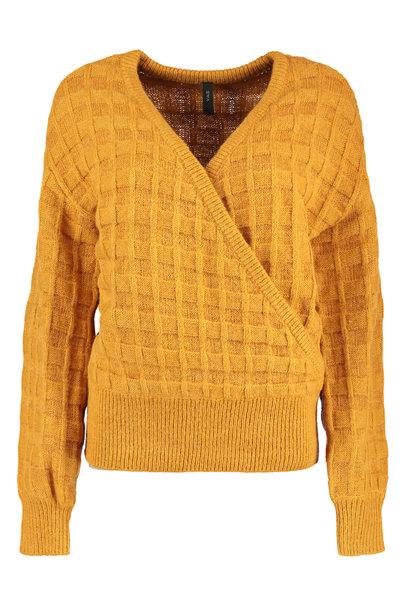 Trui Yascarole knit Ochre