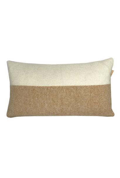 Kussen Easy nature wool 35x60cm Mustard