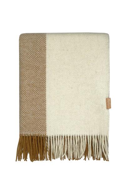 Woondeken Easy nature wool 140x190cm Mustard
