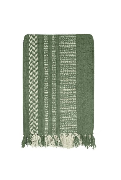 Woondeken Cheyenne stripe 125x170cm Green