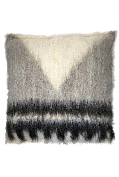 Vloerkussen 100% wool 90x90cm Grey