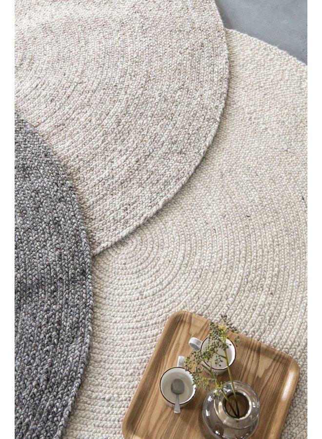 Vloerkleed pebble round Ivory Ø225cm