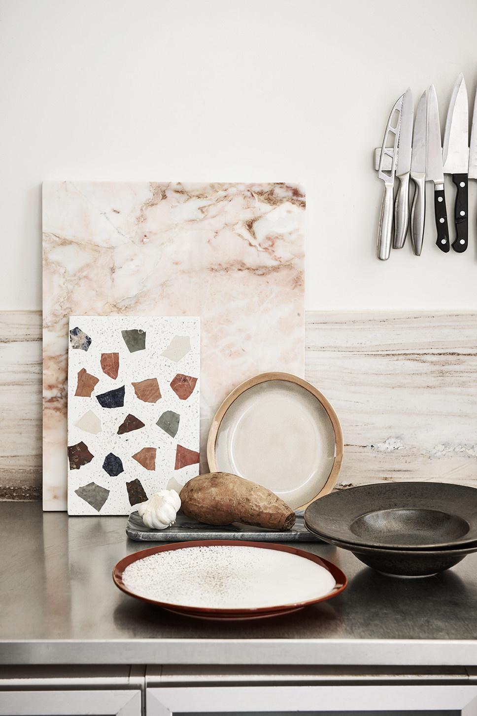 Schaal marble terrazzo board 30x25cm Multi-2