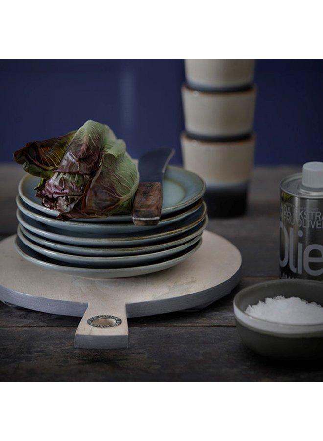 Bord ceramic dessert plate 70's snow (set of 2)