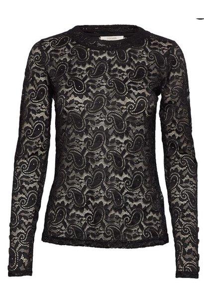 Top MilaCR Long Sleeve black