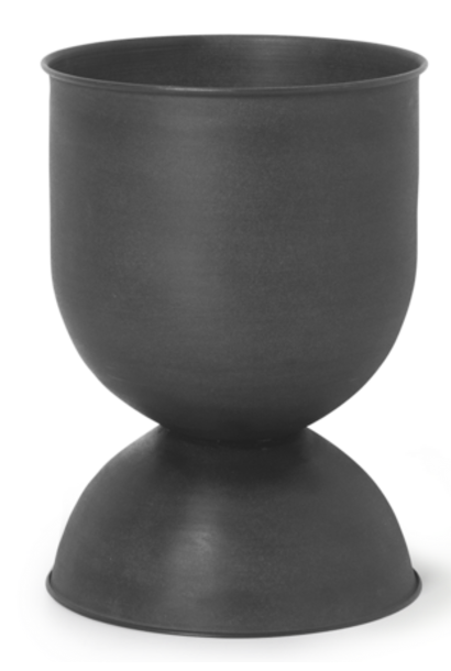 Pot Hourglass Ø 31xH42cm Black
