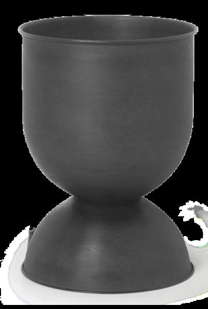 Pot Hourglass Small Black/D. Grey