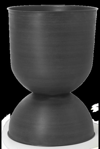 Pot Hourglass Large Black/D. Grey