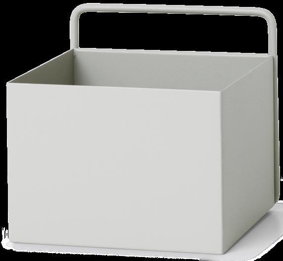 Wall Box Square 16x16x15cm Light Grey-1