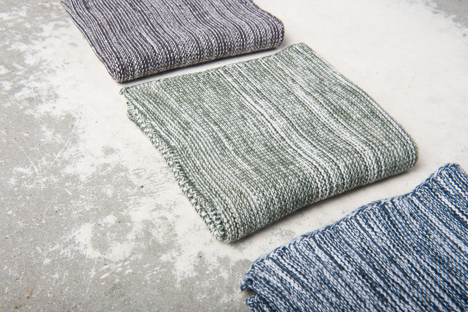 Cleaning cloth melange knit-3