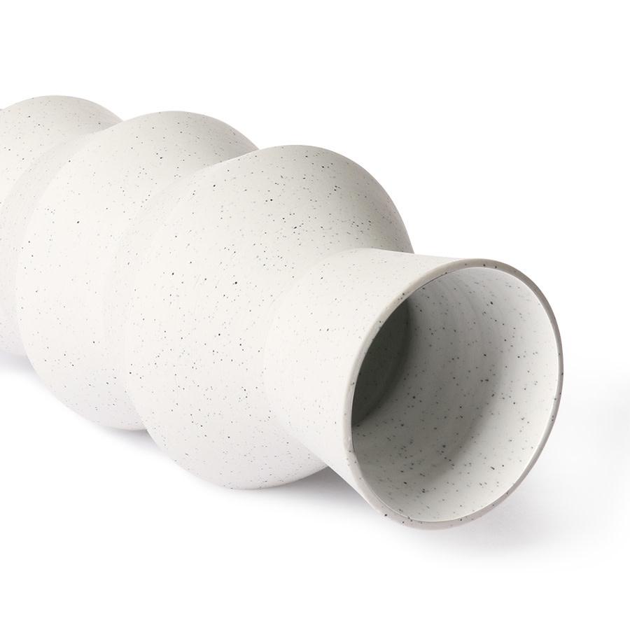 Vaas speckled clay angular13x29cm White-4