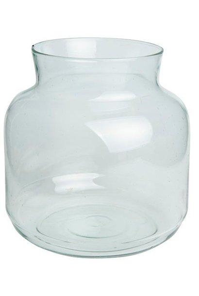 Vaas recycled glass 22x23cm
