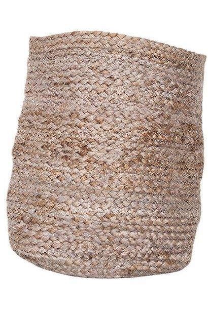 Bag Basket jute 28x34cm Natural
