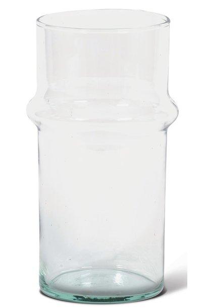 Glas Recycled 9x20cm Transparant