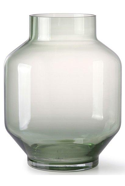 Vaas green glass vase