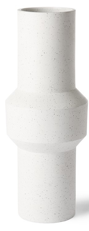 Vaas speckled clay 16x39cm White-1