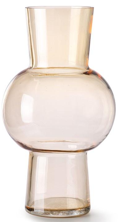 Vaas glass flower 19x35cm Peach-1