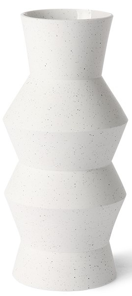 Vaas speckled clay angular16x41cm White-1