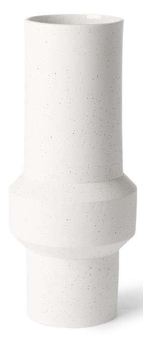 Vaas speckled clay straight 13x32cm White-1
