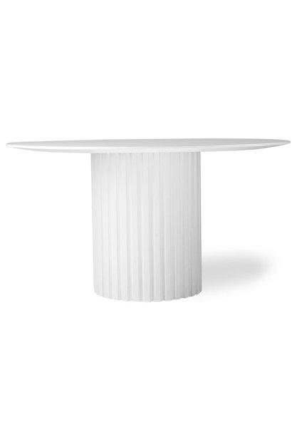 Eettafel pillar dining round 140xH75cm White