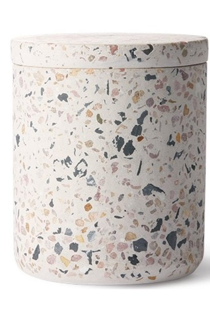 Pot terrazzo storage jar 8x10cm Multi