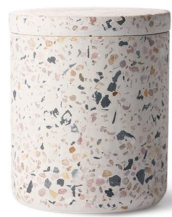 Pot terrazzo storage jar 8x10cm Multi-1