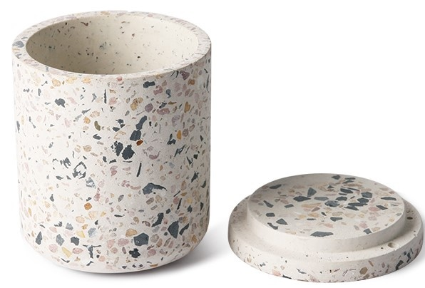 Pot terrazzo storage jar 8x10cm Multi-3