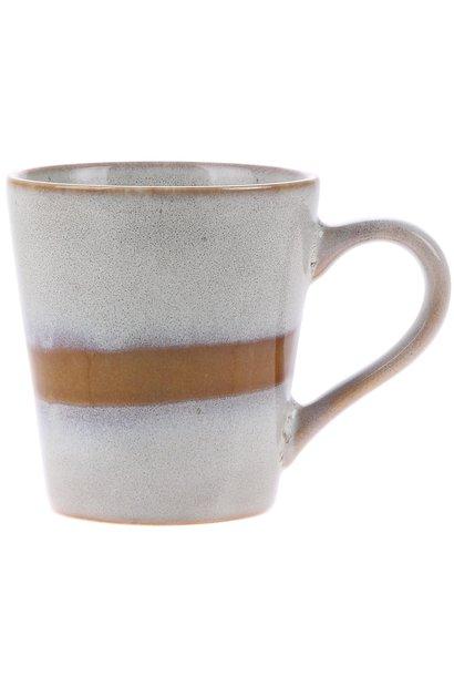 Mok ceramic 70's espresso 6x8cm Snow