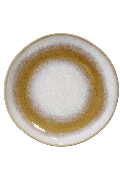 Bord ceramic 70's Ø18cm Snow