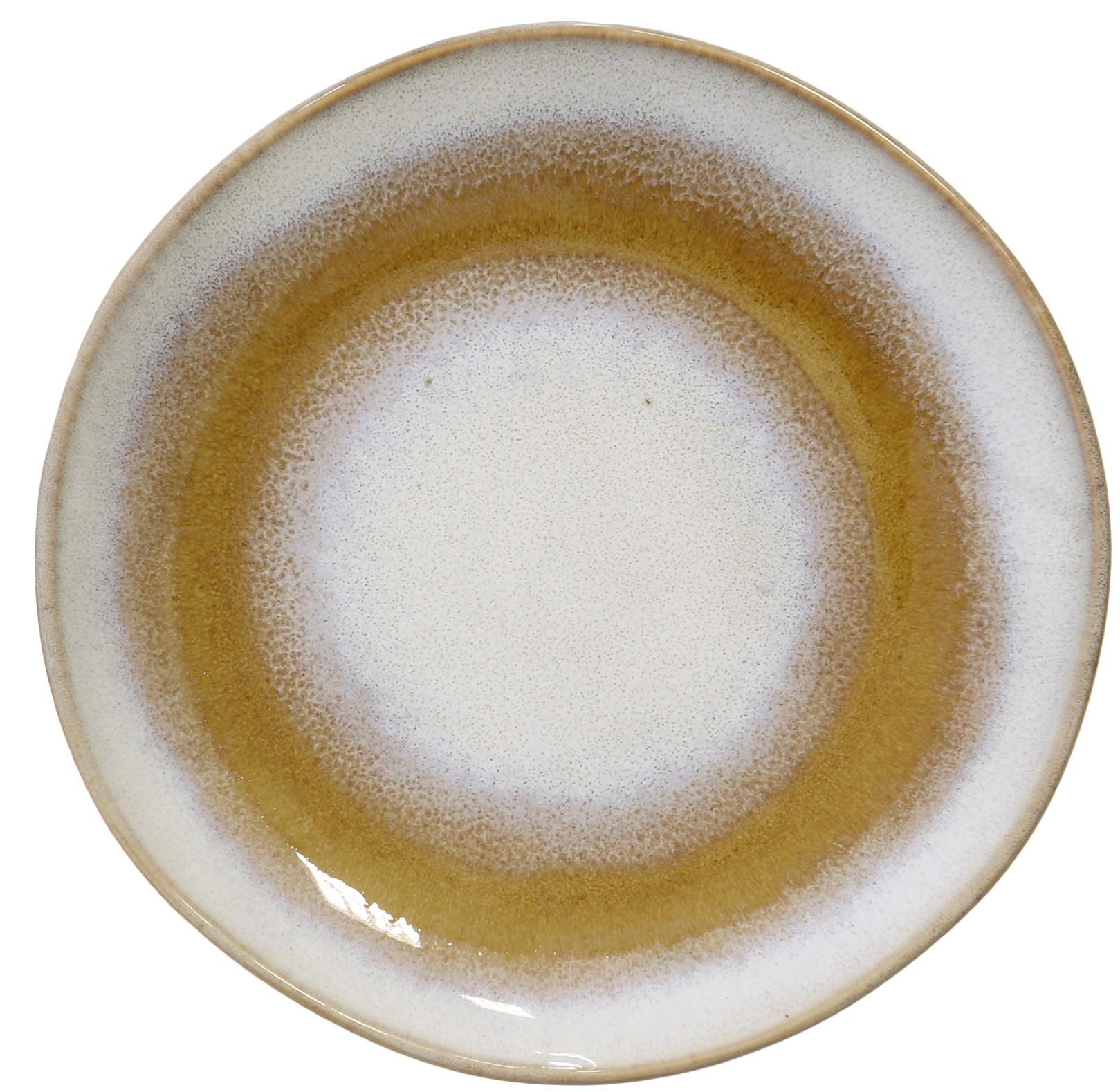 Bord ceramic 70's Ø18cm Snow-1