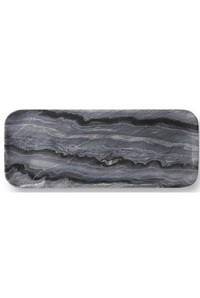 Bord marble tray 30x12cm Grey
