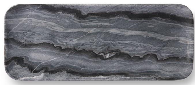 Bord marble tray 30x12cm Grey-1