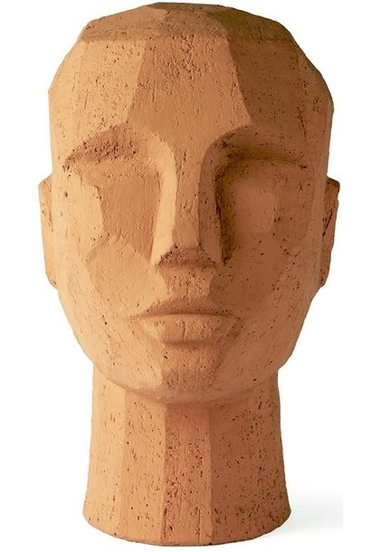 Object abstract head 18x15x25cm Terracotta