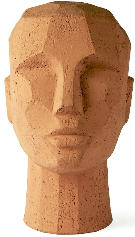 Object abstract head 18x15x25cm Terracotta-1
