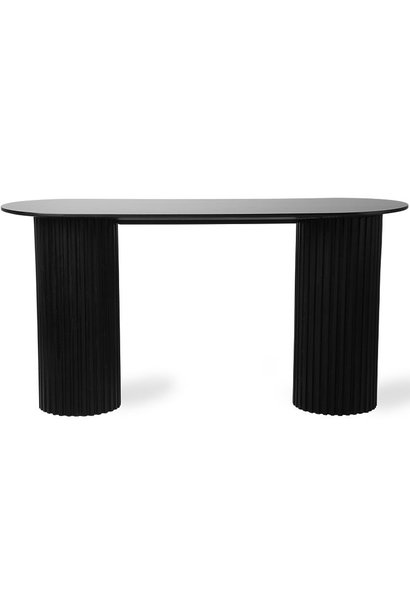 Tafel pillar side oval 140x50x72cm Black showroom