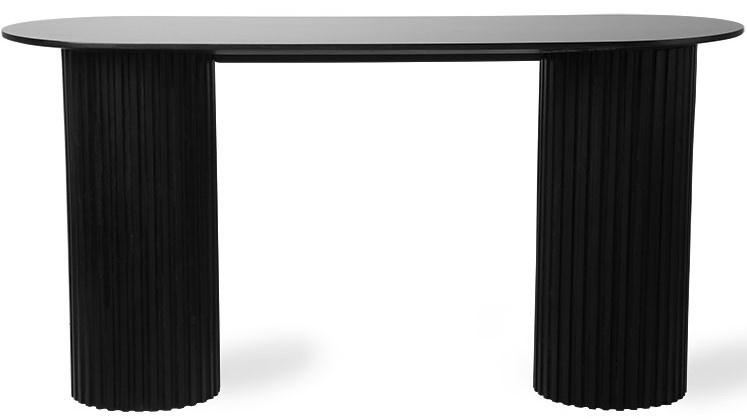 Tafel pillar side oval 140x50x72cm Black showroom-1