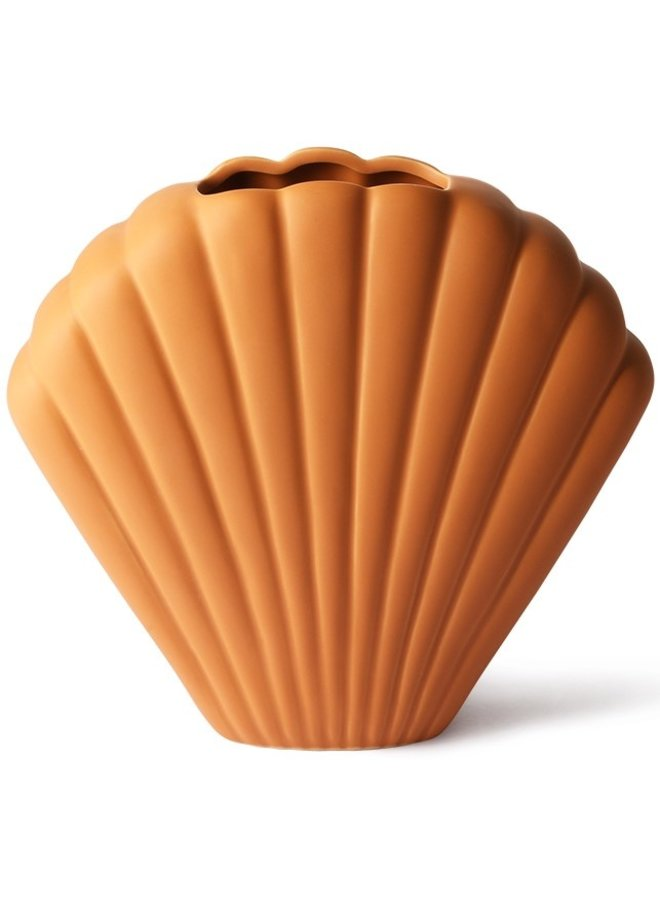 Vaas ceramic shell vase terra l
