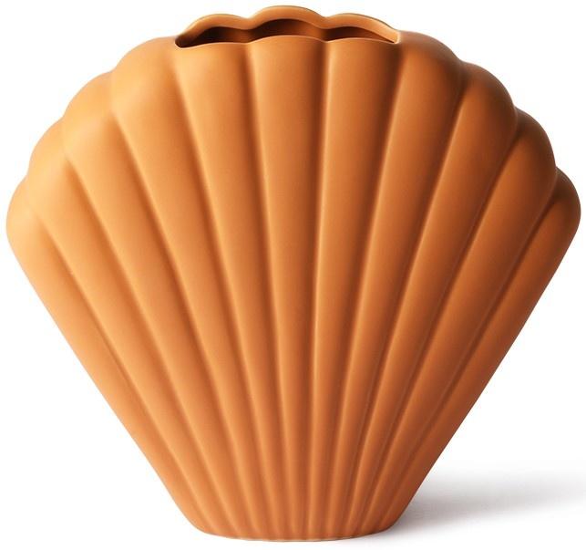 Vaas ceramic shell 25x21cm Terracotta-1
